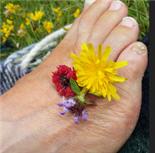 Flowers on foot
