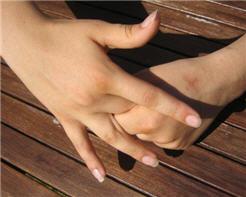 Finger hold for anger