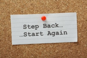 Step Back Start Again